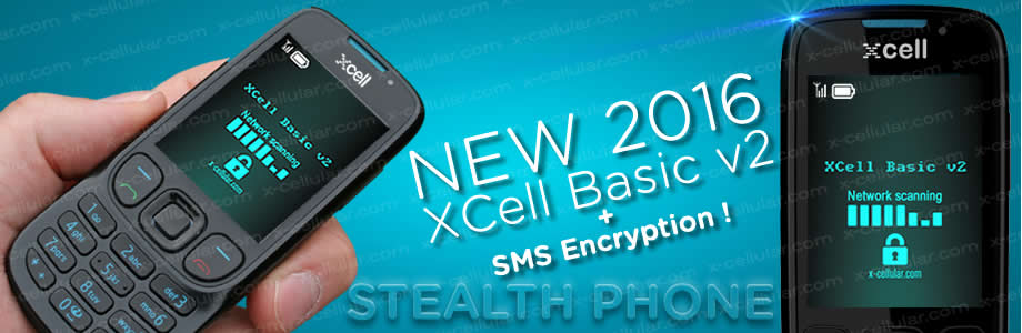 XCell Basic v2 Stealth Phone + SMS Encryption